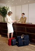 Recepcionista en hoteles