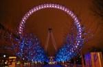 Londres en invierno con decoración de navidad
