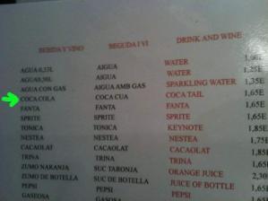 coca cola inglés